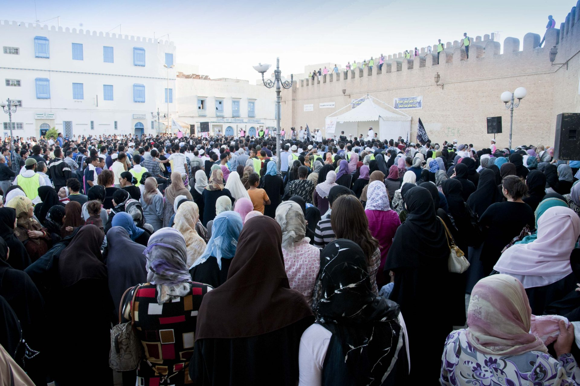 manifestation contre Nessma à Kairouan-4
