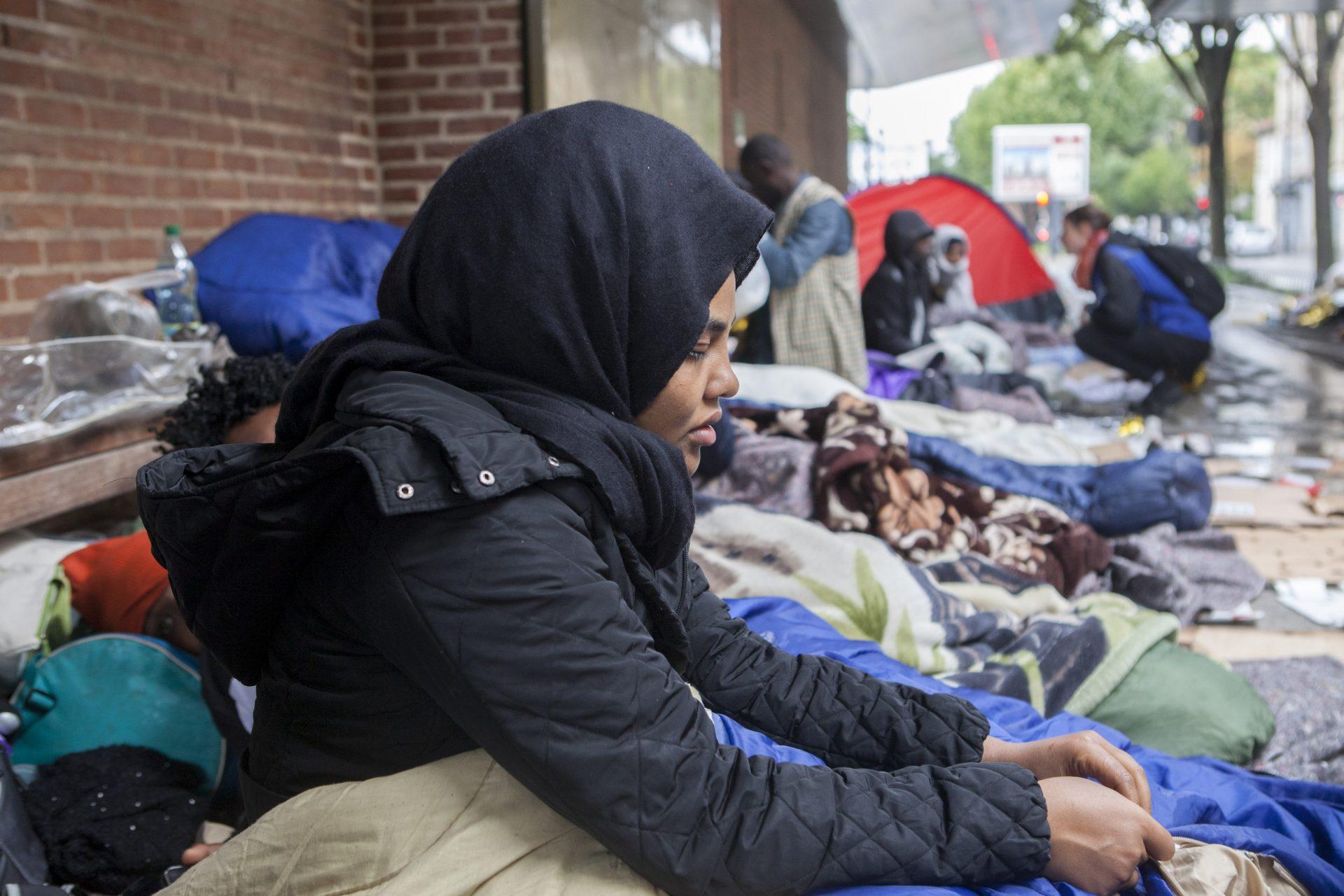 L'errance des migrants à Paris
